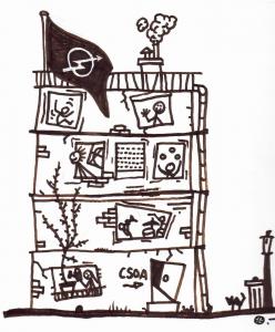 casa okupa dibujo simplista